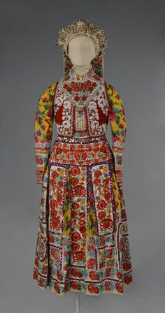 Folk Costume, Costumes, Hungarian Embroidery, Folk Clothing, Bead Sewing, Flower Spray, British Museum, Traditional Dresses, Apron