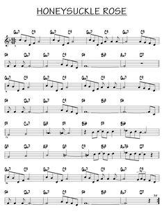 Piano Jazz, Free Jazz, Jazz Guitar Lessons, Honeysuckle Rose, Rose Music, Acid Jazz, Jazz Standard, Music Tabs, Lead Sheet
