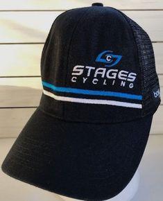 e5238bcb0c8 Stages Cycling Black Mesh Snapback Trucker Hat Boco Gear Cap  bocogear   TruckerHat
