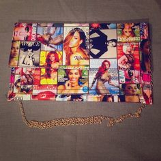 ONE DAY SALECOOL PURSE Made out of plastic material. Magazine covers. Length - 13, width -7.5. Bags