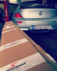 This E63 is getting a new frontspoiler. We want to see the result! #schmiedmann #bmwspecialist #bmw