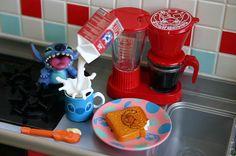 """Stitch Loves Milk & Breads :D"" #Stitch #LiloandStitch"