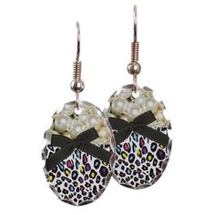 Pearls And Cheetah Earring on CafePress.com