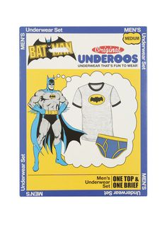 Gift idea: Underoos, the super hero themed t-shirt and underwear sets have returned, and the design is unchanged. This would, without a doubt, make for a great gift to a lot of men. Demand is high so order soon before styles and sizes run out. Click to visit product page. #holidaygifts #nattyguy #mensfashion #loungewear #batman