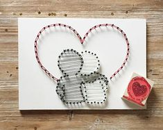 55 ideas love art diy patterns for 2019 Wedding String Art, String Art Diy, String Art Tutorials, String Crafts, String Art Patterns, Resin Crafts, Diy Crafts How To Make, Creation Deco, Diy Décoration