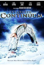 Stargate: Continuum Poster. One of two Stargate movies released in 2008. Ba'al travels back in time and prevents the Stargate program from being started. SG-1 must somehow restore history.
