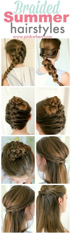 Quick, fun, and easy Summer Braided Hairstyles.