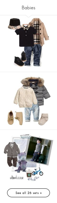 """""""Babies"""" by dezaval ❤ liked on Polyvore featuring Zara, Burberry, men's fashion, menswear, Gymboree, H&M, WALL, Oxford, English Trousseau and Minor Obsessions"""