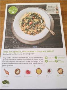Orzo met spinazie en kaas