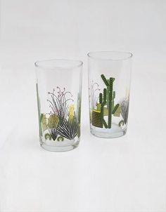 Set of 2 Cacti Glasses @Wolveswithin