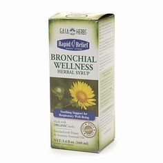 Gaia Herbs Rapid Relief Organic Bronchial Wellness Herbal Syrup: A Soothing Support for Respiratory Well-Being.