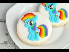 My Little Pony Cookies, Rainbow Dash Easy Design Transfer Technique https://www.youtube.com/watch?v=lqjI3ZET2l0
