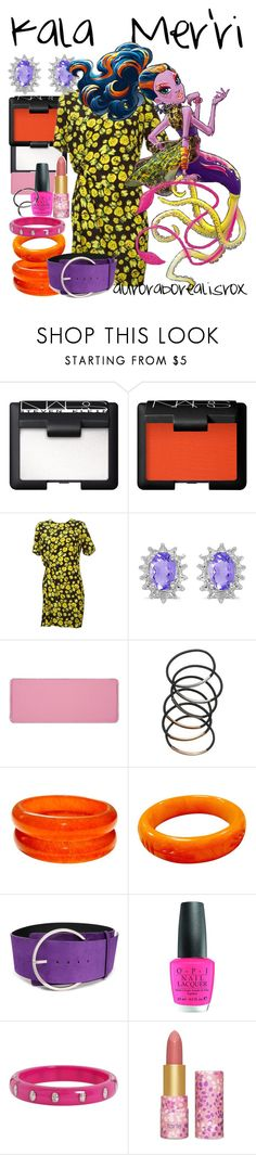 """Kala Mer'ri"" by auroraborealisrox ❤ liked on Polyvore featuring NARS Cosmetics, Lanvin, Amanda Rose Collection, shu uemura, Goody, COSTUME NATIONAL, OPI, Marc by Marc Jacobs, tarte and monsterhighinspired"