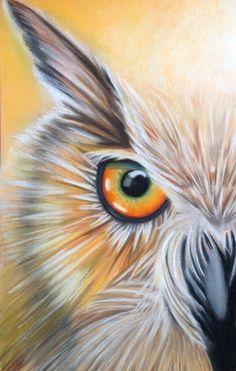 Illustration Au Crayon, Owl Artwork, Owl Cartoon, Owl Eyes, Owl Pictures, Wildlife Art, Animal Paintings, Bird Art, Rock Art