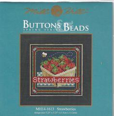 Strawberries Mill Hill Buttons & Beads Cross Stitch Kit #MillHill