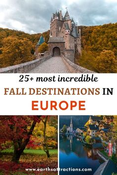Wondering what are the best places to visit in Europe in autumn? Here are 28 fall destinations in Europe. Discover where to go for fall foliage in Europe from this list of the best European destinations in autumn. Where to go in Europe in fall! Read the article now and save this pin for later! #travel #traveleurope #autumntravel #autumneurope #falleurope #fallcolours #fallfoliage #europe #earthsattractions
