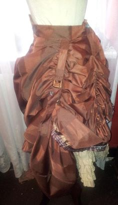 steampunk ruched skirt with layered bloomers