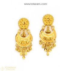 Gold Jewelry With Price Refferal: 3332803262 Indian Gold Jewellery Design, Gold Temple Jewellery, 14k Gold Jewelry, India Jewelry, Copper Jewelry, Jewelry Design, Jewlery, Gold Chandelier Earrings, Gold Drop Earrings