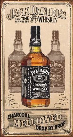 Jack Daniels Tin Sign Charcoal is a brand new vintage tin sign made to look vintage, old, antique, retro. Purchase your vintage tin sign from the Vintage Sign Shack and save. Vintage Labels, Vintage Signs, Vintage Ads, Vintage Style, Tennessee Whiskey, Bourbon Whiskey, Whiskey Label, Whiskey Girl, Jack Daniels Whiskey
