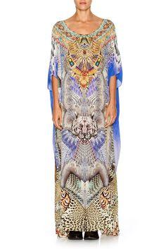 NEW Camilla Franks Silk Swarovski Shamanic BY Nature Round Neck Kaftan Layby AVA | eBay