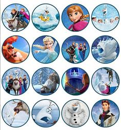 Disney Frozen Birthday party Cupcake Toppers Images 2 by VintageDS Frozen Birthday Party, Frozen Party, Birthday Parties, Free Birthday, 4th Birthday, Birthday Cake, Bottle Cap Art, Bottle Cap Crafts, Bottle Cap Images