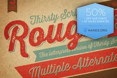 Thirsty Rough Complete Family ~ Script Fonts on Creative Market