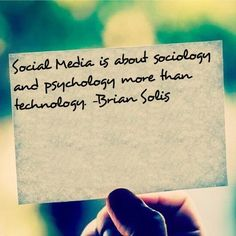 Social media is about social science not technology