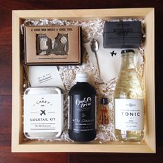 A custom Teak & Twine gift box for groomsmen! hello@teakandtwine.com