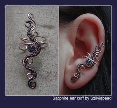 Sapphire ear cuff by *bodaszilvia on deviantART