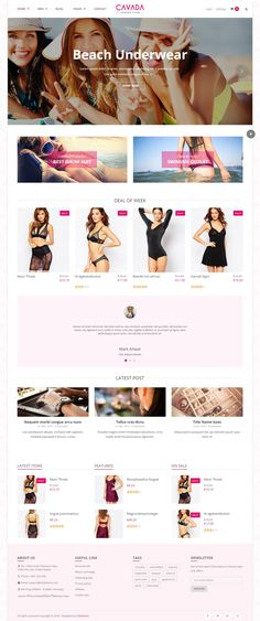 Cavada Best Business Multipurpose WooCommerce WordPress Theme has 7 stunning layouts. Demo #lingerie #underwear #shop