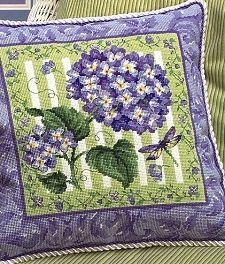 Blue Hydrangea Tapestry Needlepoint Kit