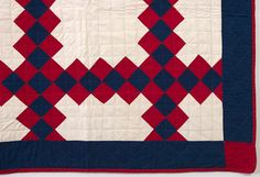 Irish Chain Quilt: Circa 1890; Pennsylvania