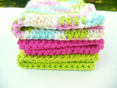 Crocheted  Dish Cloth Set by ACCrochet on Etsy