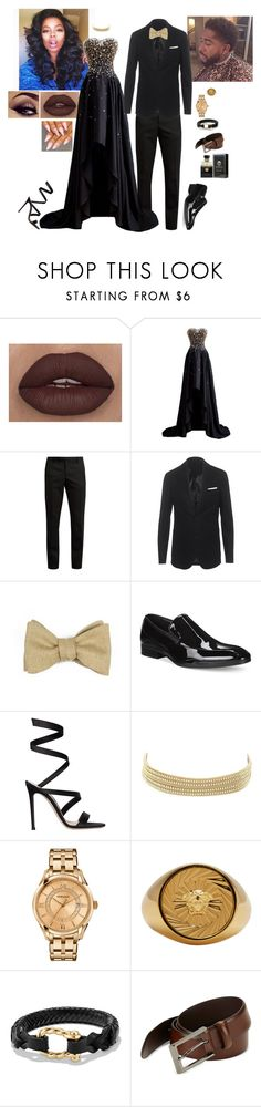"""""""Prom Outfit Ideas #922"""" by medinea ❤ liked on Polyvore featuring Yves Saint Laurent, Neil Barrett, Robinson & Dapper, Alfani, Gianvito Rossi, Charlotte Russe, Versace, David Yurman and HUGO"""
