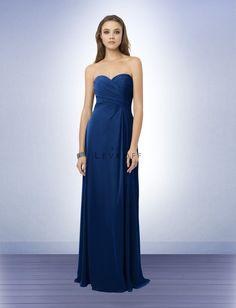 Bridesmaid Dress Style 776 - Bridesmaid Dresses by Bill Levkoff- chiffon, strapless- navy