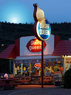 The oldest dairy queen that I have seen. The building hasn't been modified since opening. Only the sign!