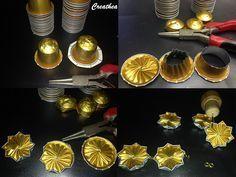 Este es un DIY que sin duda voy a intentar  Hace tiempo que guardo cápsulas de Nespresso pero creo que tengo pocas doradas....
