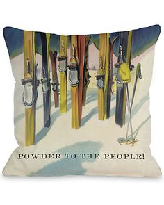 "Some of you have to get in on this: One Bella Casa ""Powder to the People"" Decorative Pillow"