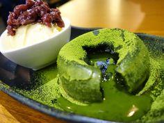 Recipe for Matcha (Green Tea) Lava Cake. Organic, Green Tea Powder, Healthy Dessert, Fitness, Japanese Green Tea, Matcha,