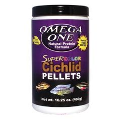 Try This:  Omega One Super Color Cichlid Small Pellets 16