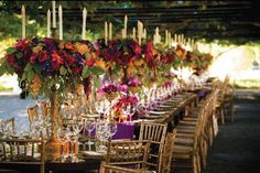 Love These Tall Fall Wedding Centerpieces