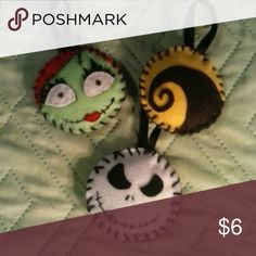 Nightmare before Christmas felt ornament set Cute custom felt nightmare before Christmas ornaments! Accessories