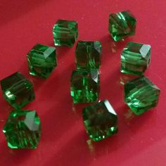 10 pcs lot of 8mm Crystal cube Beads now available in my shop. Please take a look. Thanks Fiona