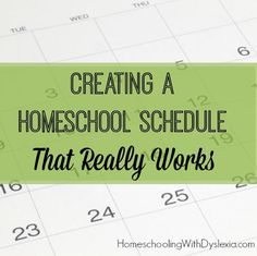 Tips from a veteran homeschool mom on creating homeschool schedule that really works.