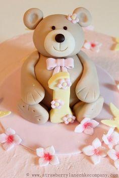 Buttercream Teddy Bear 1st Birthday Cake by Strawberry Lane Cake Company (6/23/2012)  View cake details here:http://cakesdecor.com/cakes/19257