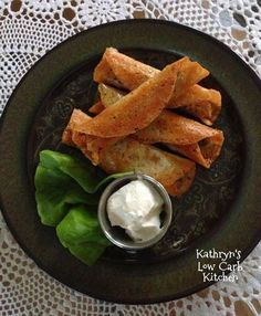 Recipe from Kathryn  Beef Taquitoes   Ingredients:  3slices MildProvolone Cheese slices (I bought mine at Costco)  Garlic powder  Mexi...