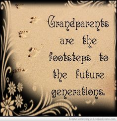 its up to us grandparents to teach