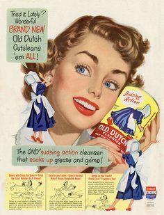 Vintage Old Dutch Cleaner Ad