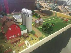 Toy Wagon, Farm Village, Farm Layout, Farm Projects, Farm Crafts, Toy Display, Farm Toys, Play Table, Mini Farm