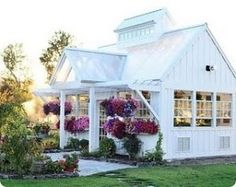 This is a beautiful greenhouse! This woman lives on a bunch of dream land. Old farm house fixed up pond greenhouse fresh air potager garden everything. Greenhouse Farming, Greenhouse Ideas, Greenhouse House, Indoor Greenhouse, Small Greenhouse, Homemade Greenhouse, Pallet Greenhouse, Greenhouse Wedding, English Cottage